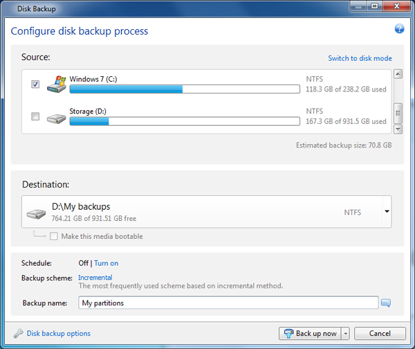 acronis true image 2013 disk backup window
