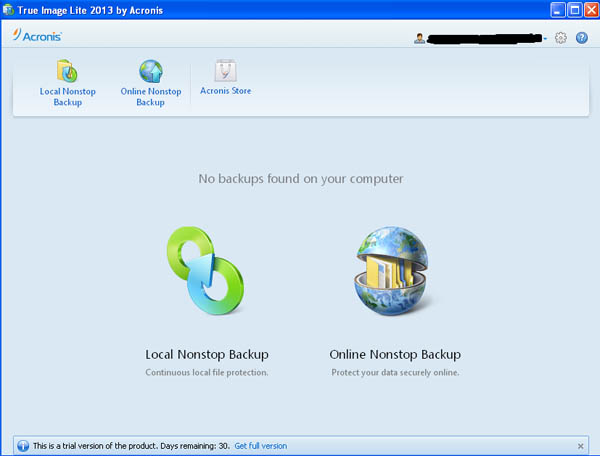 Acronis True Image Lite 2013 vs full version