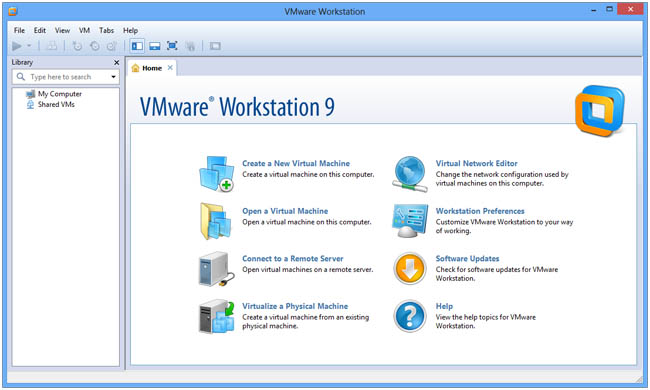VMware Workstation interface